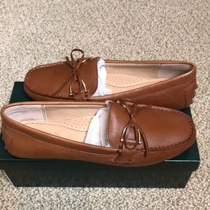 NEW Briley Moccasin Loafer 100% Leather Sz 7.5B
